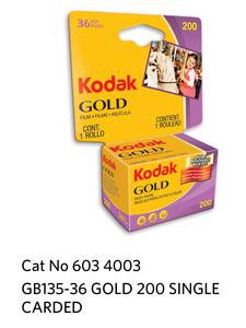 Kodak GOLD 200 GB 135-36 Carded
