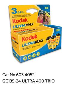 Kodak GOLD ULTRA 400  GC 135-24  3-Pack