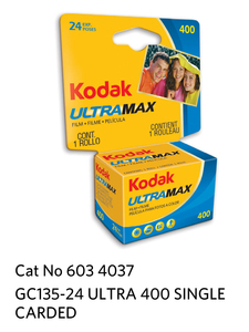 Kodak GOLD ULTRA 400  GC 135-24 Carded
