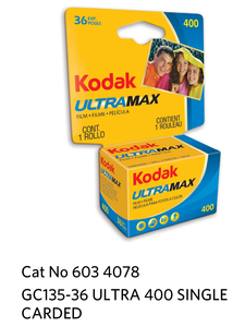 Kodak GOLD ULTRA 400  GC 135-36 Carded