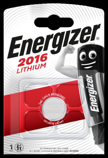 Energizer CR 2016 Lithium 3.0V     FSB-1
