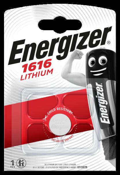 Energizer CR 1616 Lithium 3.0V     FSB-1