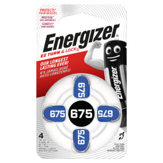 Energizer EZ Turn & Lock 675 1.4V 4-Pack