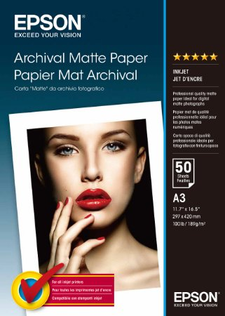 Epson Archival Matte A3, 189g/m2, 50pcs