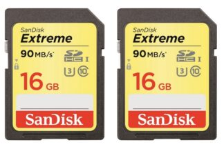 SanDisk Extreme 90MB/s SDHC 16GB 2-Pack