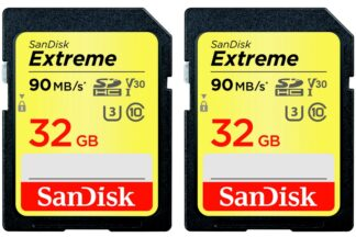 SanDisk Extreme 90MB/s SDHC 32GB 2-Pack