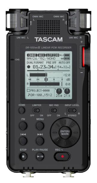 Tascam DR-100mkIII Stereo Handheld Rec.
