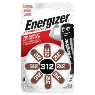 Energizer EZ Turn & Lock 312 1.4V 8-Pack
