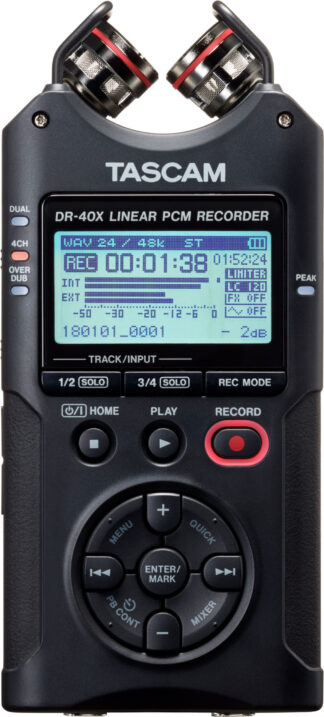 Tascam DR-40X 4 Track Handheld Recorder