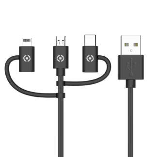 Celly  3in1 Cable 1 Meter black