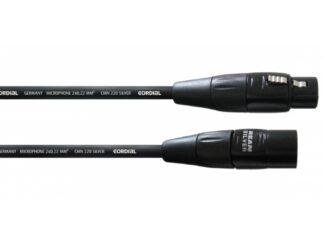 CORDIAL Mikrofonkabel, 0.50 m silverline